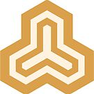 Geometric Pattern: Y Outline: Gold/Cream by * Red Wolf