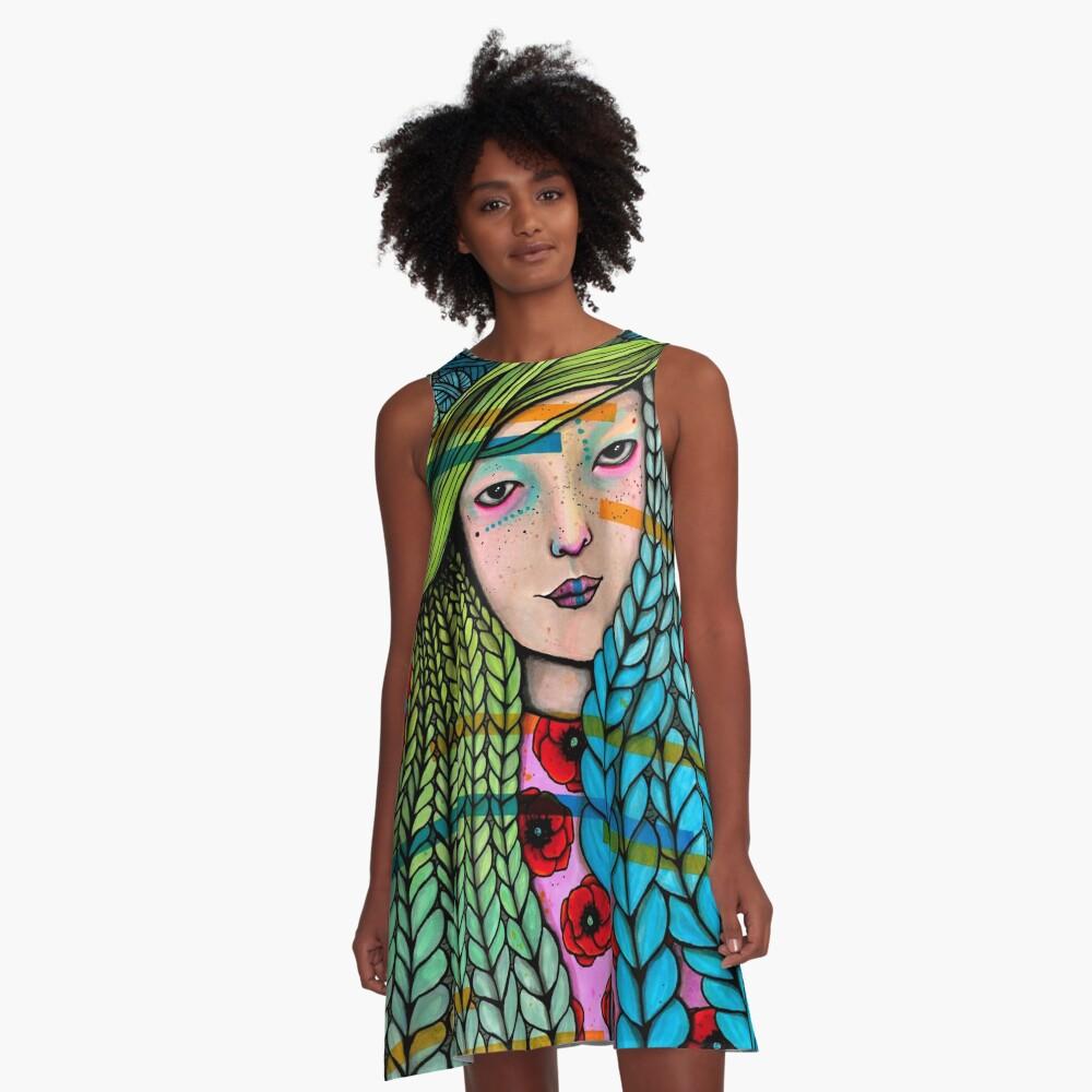 Yarn Stash  A-Line Dress Front