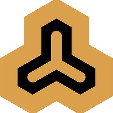 Geometric Pattern: Y: Gold/Black by redwolfoz