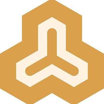Geometric Pattern: Y: Gold/Cream by redwolfoz