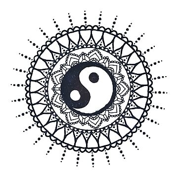 «Yin Yang Mandala // Stary Mandala art sur fond blanc» par ChillingNation