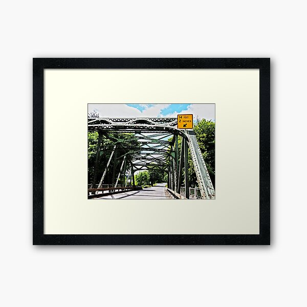 Vernonia Oregon Bridge Framed Art Print