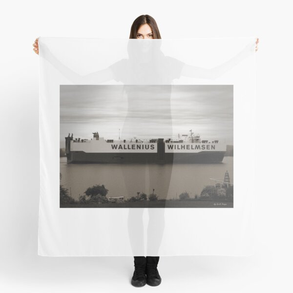 Wallenius Wilhelmsen Ship Passing through Columbia River Scarf