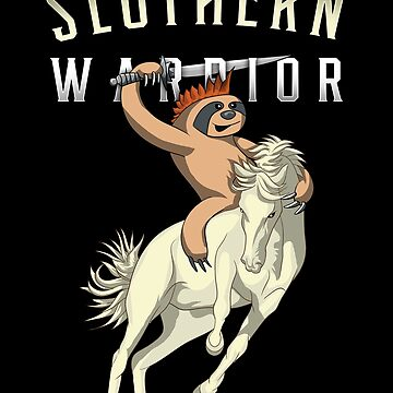 Slothern Warrior Funny Sloth Knight Pun by javaneka