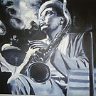 Sax Man (a quick cigarette) by Brett Leurink