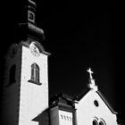 Church Steeple Zirl Tirol by Elzbieta Fazel