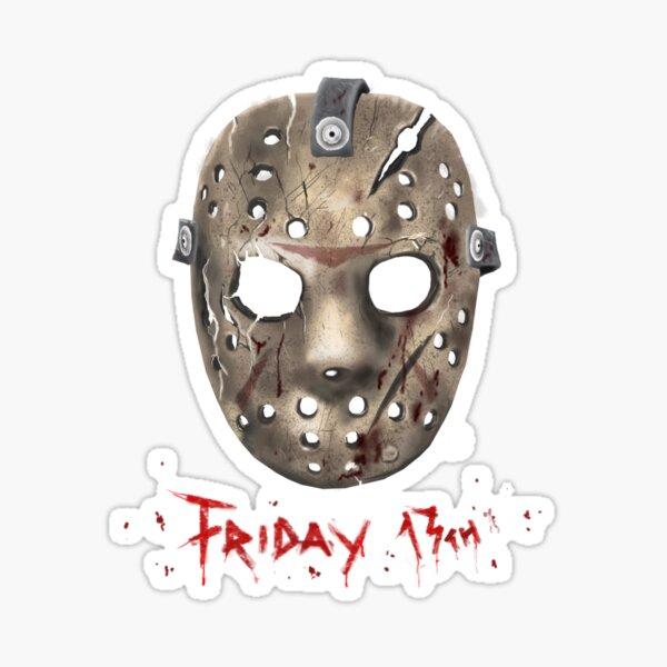 Jason Friday 13 th Mask Sticker