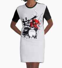 Japan Spirits Graphic T-Shirt Dress