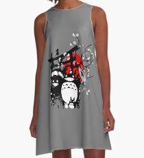 Japan Spirituosen A-Linien Kleid