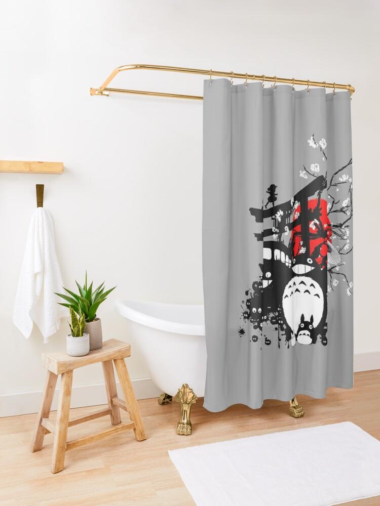 Vista alternativa de Cortina de ducha Espíritus de Japón