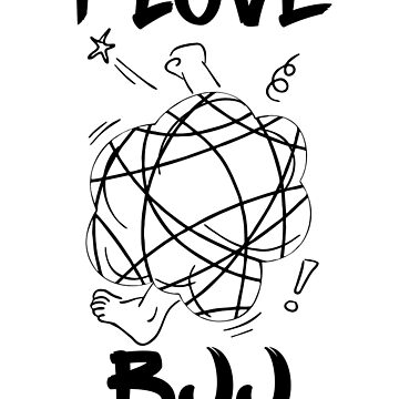 I LOVE BJJ - WHITE by antdragonist