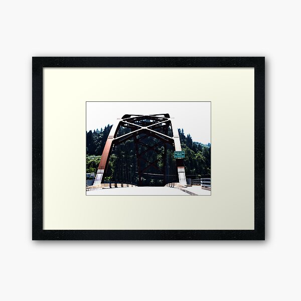 Sauvie Island Bridge Framed Art Print