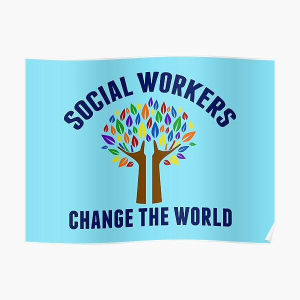 Social Work Inspirational Quote Poster