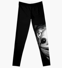 Meeting New People for Nessie and Mermaid (Grayscale Version)  Leggings