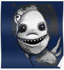 Meeting New People for Nessie and Mermaid (Grayscale Version)  Poster