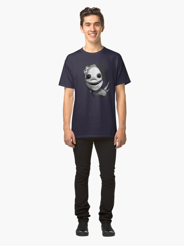Alternate view of Meeting New People for Nessie and Mermaid (Grayscale Version)  Classic T-Shirt