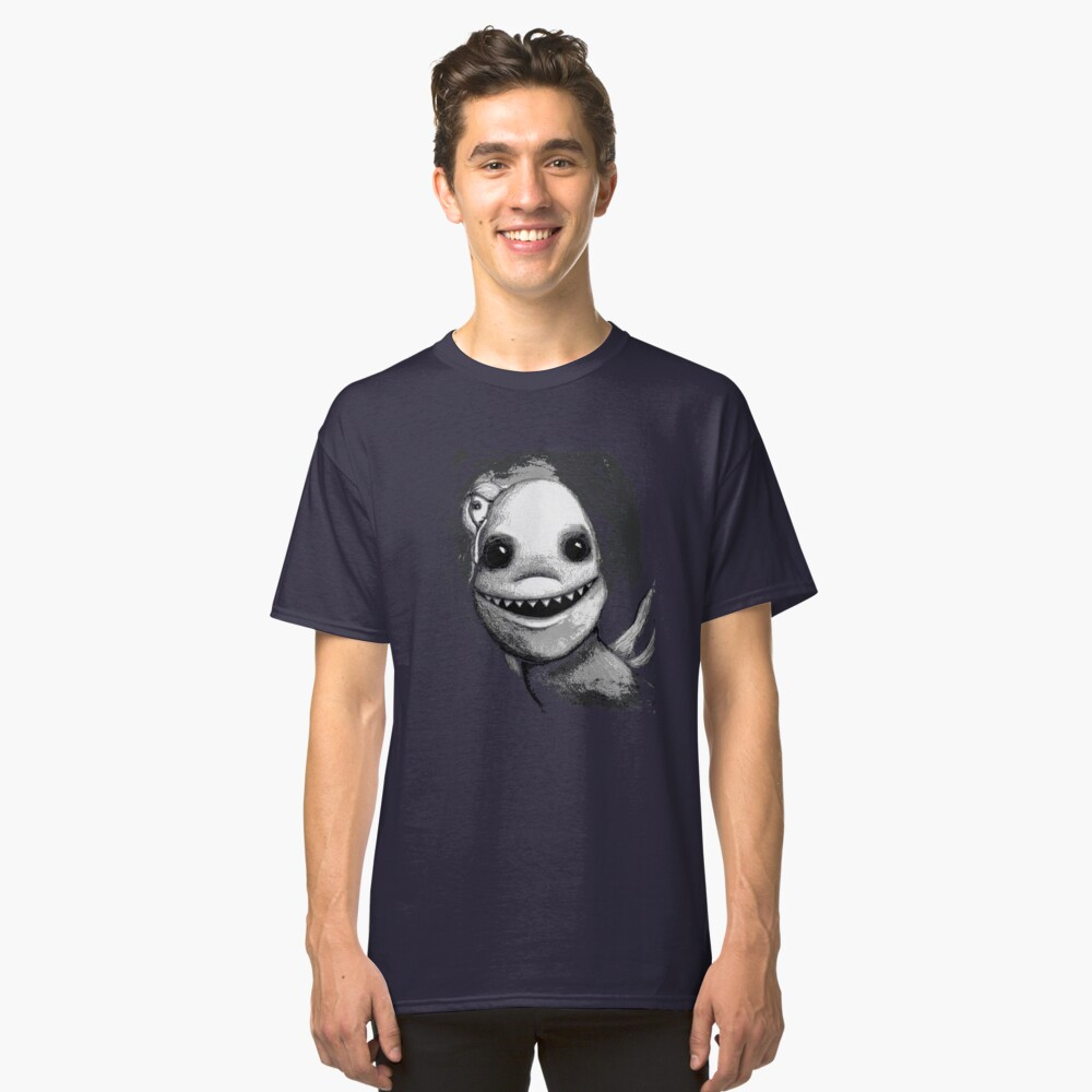 Meeting New People for Nessie and Mermaid (Grayscale Version)  Classic T-Shirt