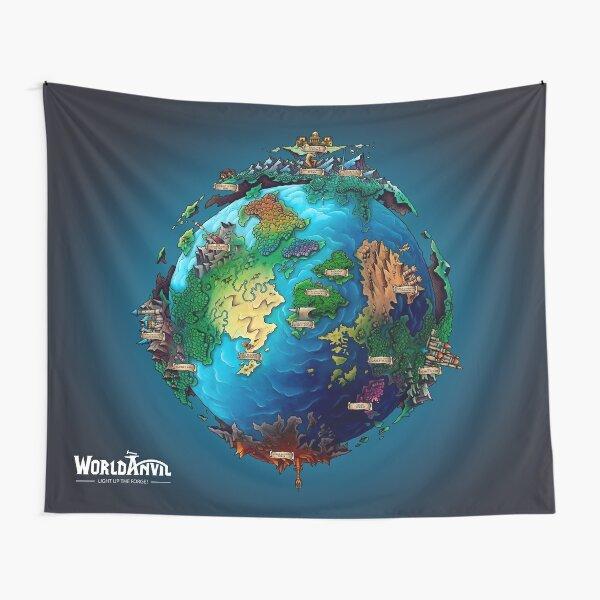 World Anvil Blue Tapestry Tapestry