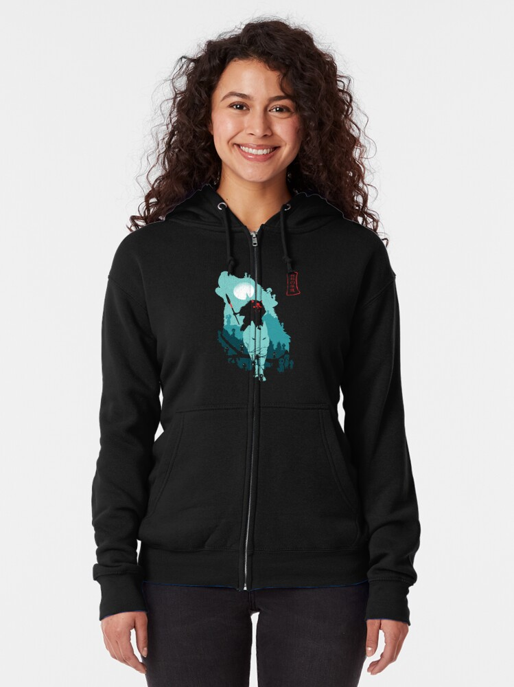 Alternate view of The Forest Protrectress Zipped Hoodie