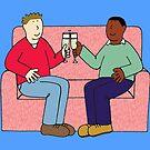 Multiracial Gay Couple Congratulations. by KateTaylor