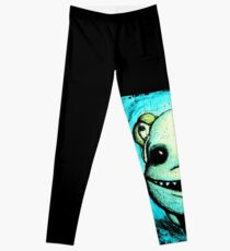 Meeting New People for Nessie and Mermaid (Color Version)  Leggings