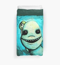 Meeting New People for Nessie and Mermaid (Color Version)  Duvet Cover