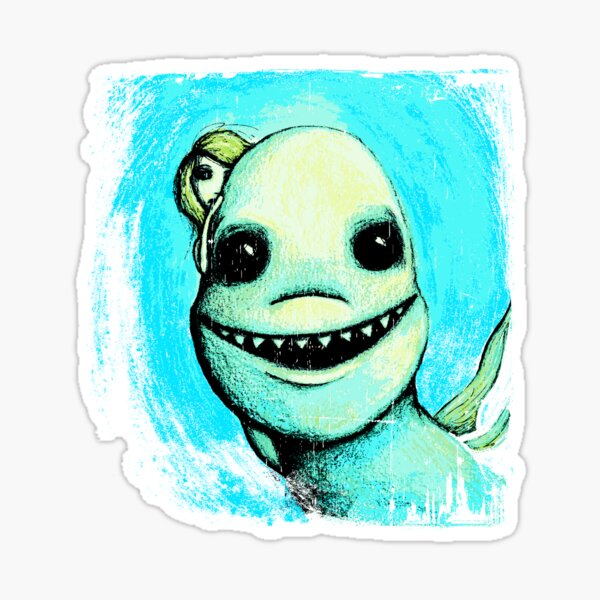 Meeting New People for Nessie and Mermaid (Color Version)  Sticker