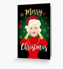Blonde Christmas Greeting Card