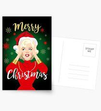 Blonde Christmas Postcards