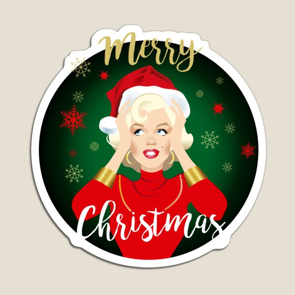 Blonde Christmas Magnet