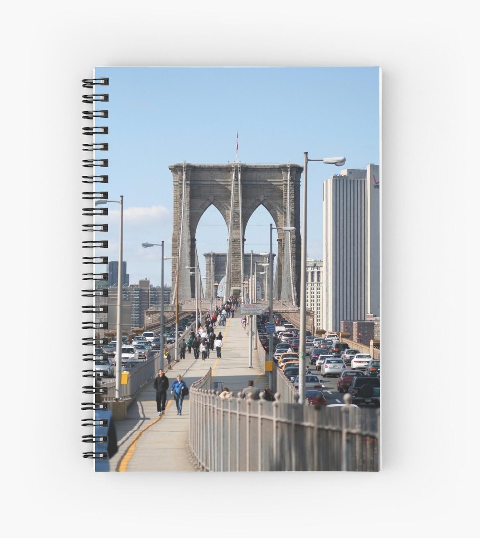 Walking on the Brooklyn  Bridge by ZeeZeeshots