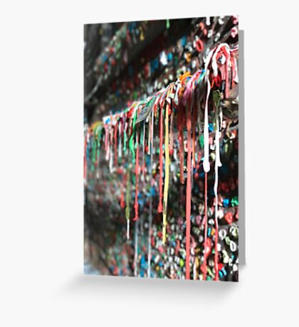 Gum Wall (Seattle, USA) Greeting Card