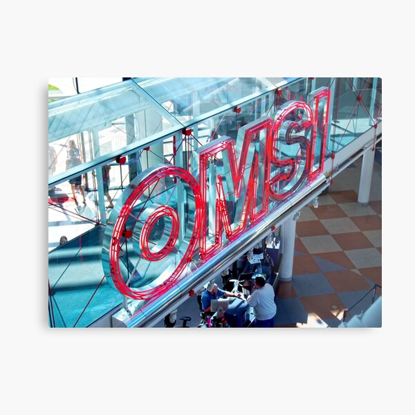 Omsi Sign Portland Oregon Metal Print