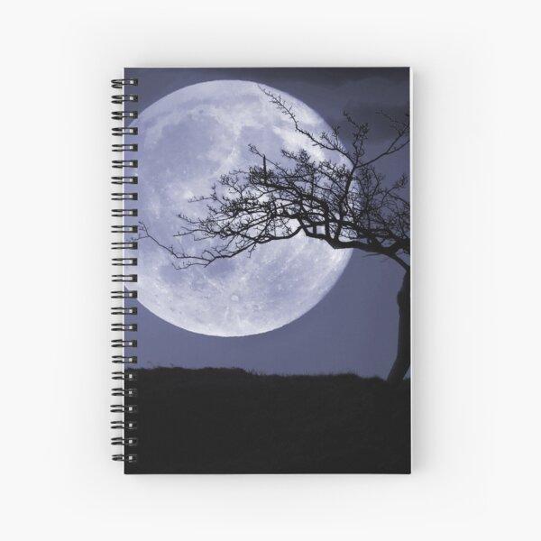 peaceful moon Spiral Notebook