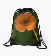 Totally tangerine  Drawstring Bag