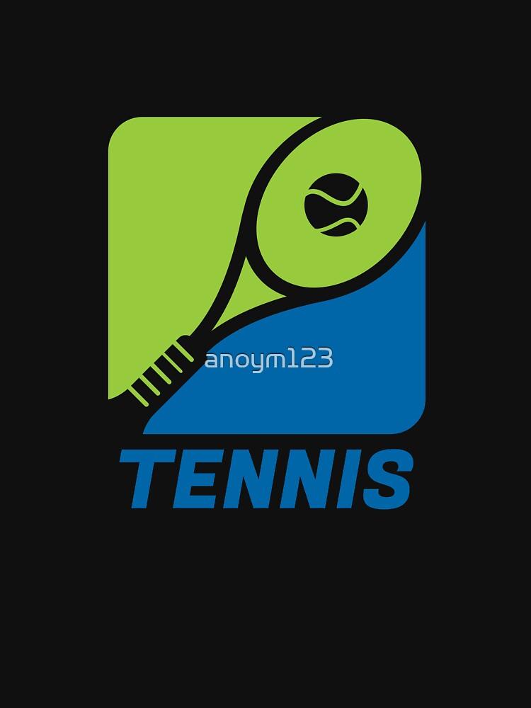 Tennis Sport Hobby Freizeit Geschenk Tennisplatz von anoym123