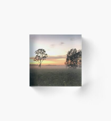 Crack of Dawn (Narooma, NSW) Acrylic Block