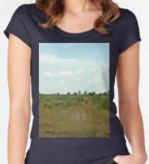 a stunning South Africa landscape Women's Fitted Scoop T-Shirt