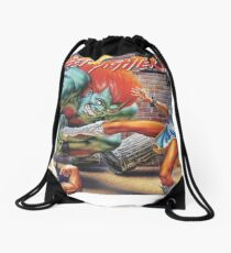 Street Fighter II Ryu, Chun Li & Blanka Drawstring Bag
