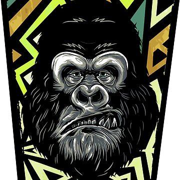 Gorilla head by Skullz23