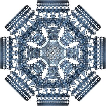 Fractal Art - Tiki Blue I by Desmo
