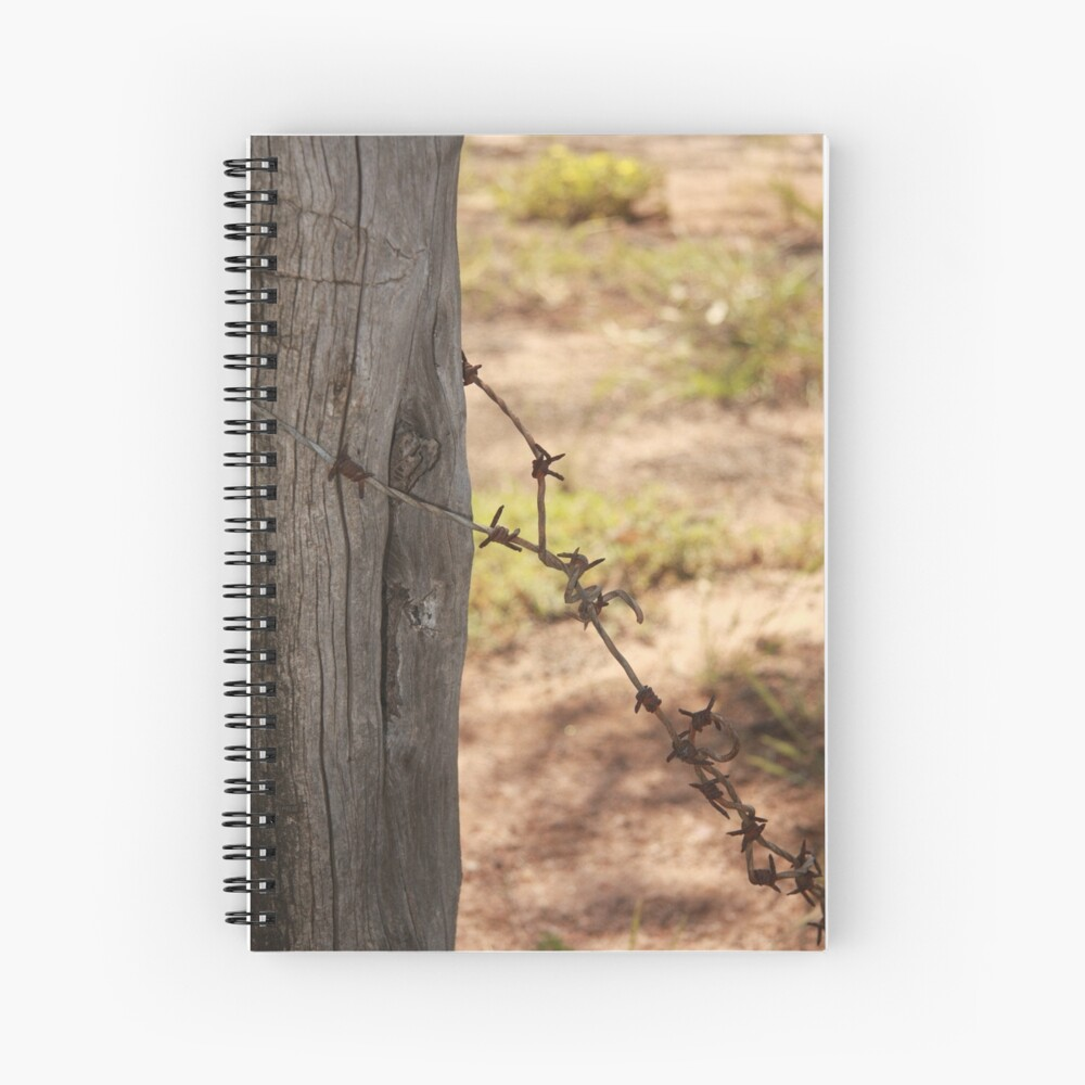 Old barbed wire Spiral Notebook
