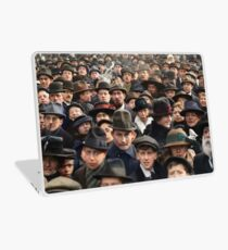 Detail of Antwerp, Belgium, a few hours after the Germans surrendered and an end of World War I. 11th November 1918 Laptop Skin