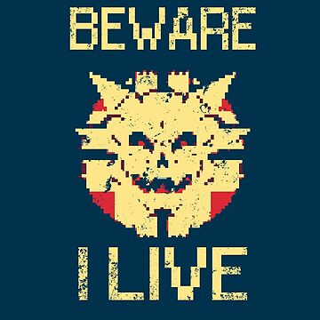 Beware I Live - Sinistar Retro Gaming Shirt by mzethner