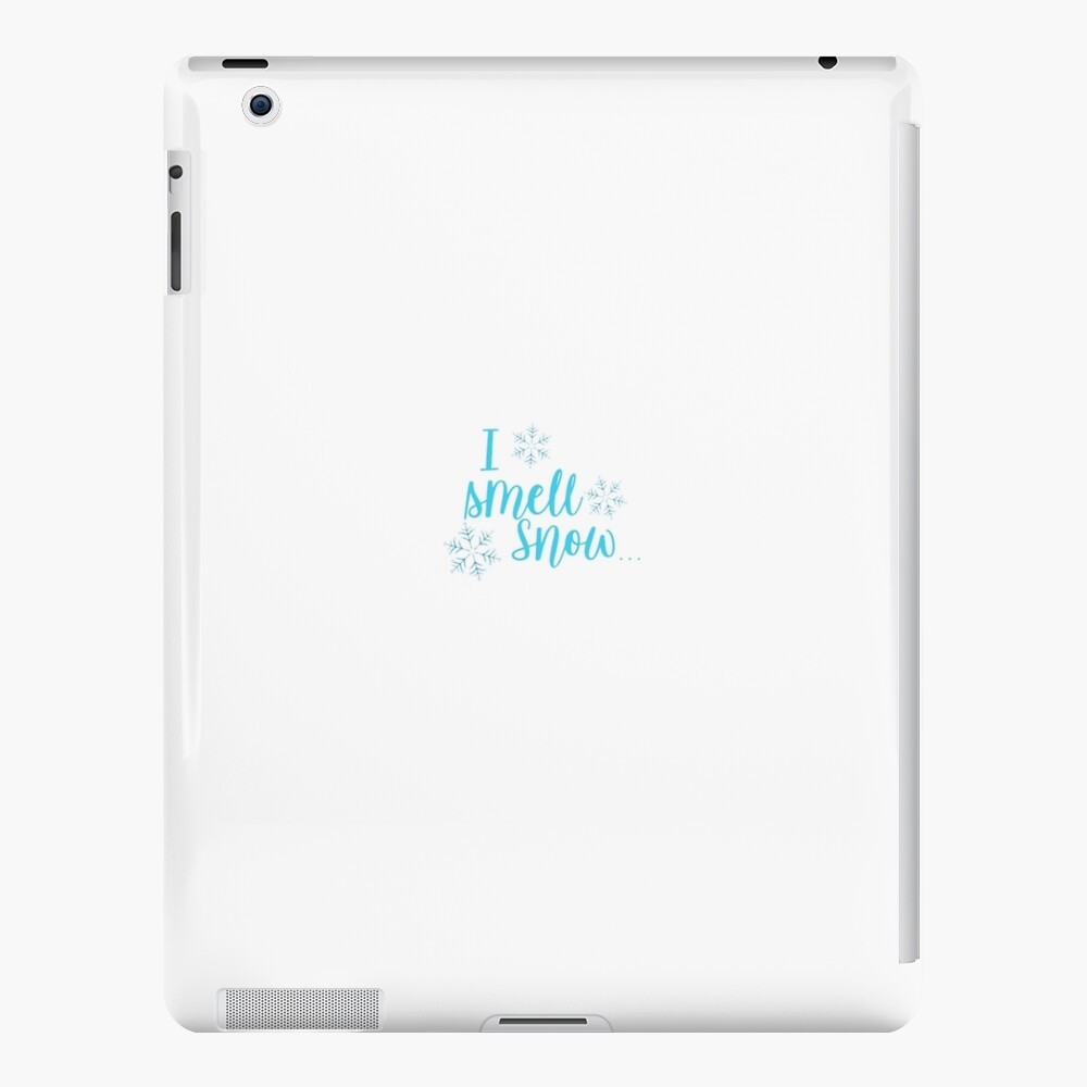 I smell snow iPad Case & Skin