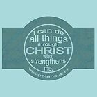 'I can do all things' in teal by alisonchambers