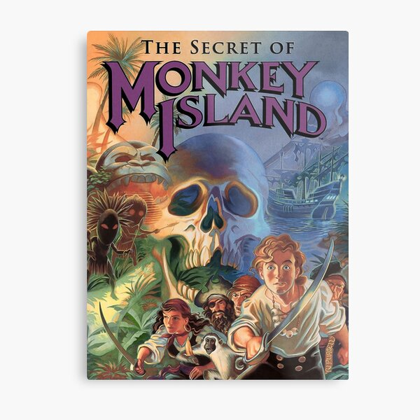 El secreto de Monkey Island Lámina metálica
