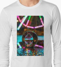 Amusement Park Ferris Wheel At Night  Long Sleeve T-Shirt