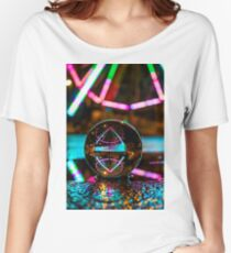 Amusement Park Ferris Wheel At Night  Relaxed Fit T-Shirt