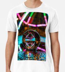 Amusement Park Ferris Wheel At Night  Premium T-Shirt